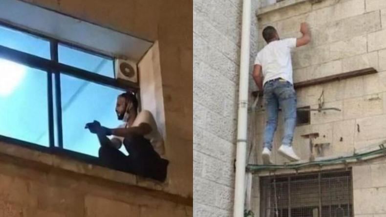 Emocionante: Joven trepó hasta la ventana de un hospital para despedirse de su madre infectada con coronavirus