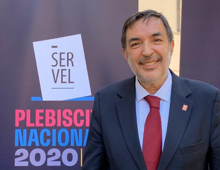 """Patricio Santamaría, presidente del Servel: """"nos da la impresión que vamos a superar la votación más alta de los últimos 8 años"""""""