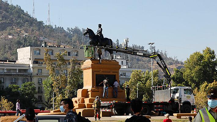 """Consejo de Monumentos confirma que Baquedano volvería a Plaza Italia: """"es un retiro temporal, por un tiempo acotado"""""""