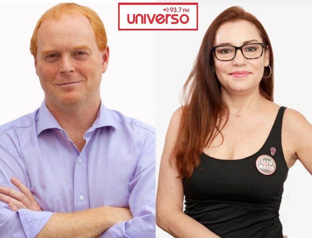 Candidatos a Gobernadores de la RM Rojo Edwards y Nathalie Joignant sobre ordenamiento territorial