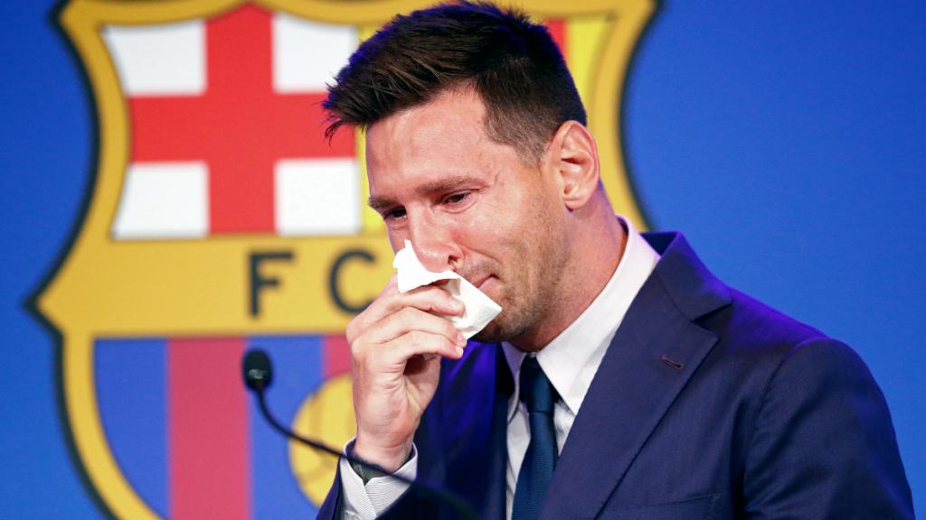 Lágrimas de oro: subastan pañuelo de Messi en un millón de dólares